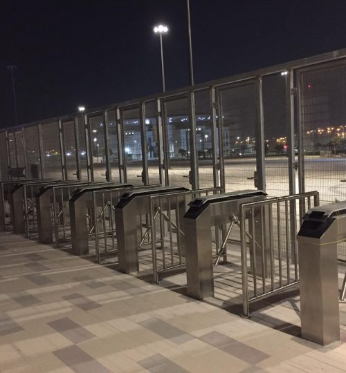 Steel Barrier installed at Al Rayyan Stadium